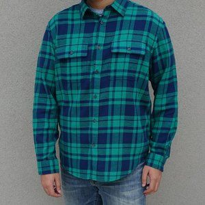 Old Navy Green Plaid Flannel Long Sleeve Shirt